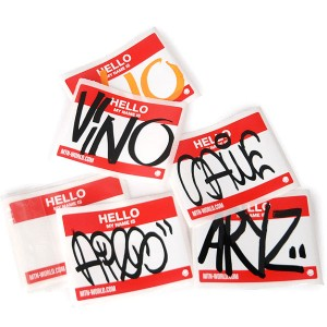 10 Montana Colors 'Hello my name is' stickers