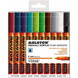 Molotow ONE4ALL 127HS basic Kit 2 10pcs. Box