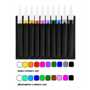 Poison Smooth 4mm Marker set of 10 markers in wallet