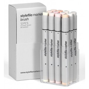 Stylefile Marker set of 12 brush markers