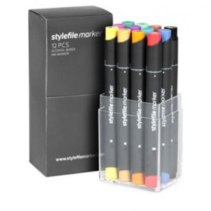 Stylefile Marker set of 12 markers