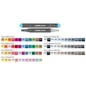 Stylefile Marker set of 12 markers and Montana SilverBook