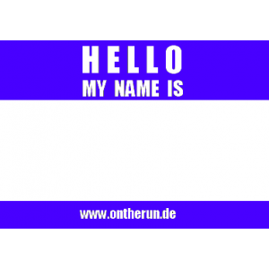 10 On The Run 'Hello my name is' stickers