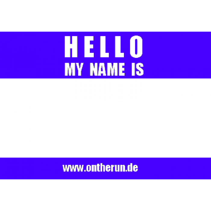 10 On The Run Hello My Name Is Stickers