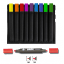 Poison Graphic Marker set of 10 markers in wallet