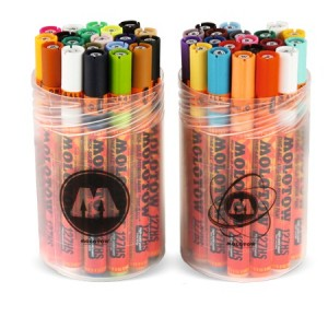 Molotow ONE4ALL 127HS Main-Kit I & II 40pcs. Box